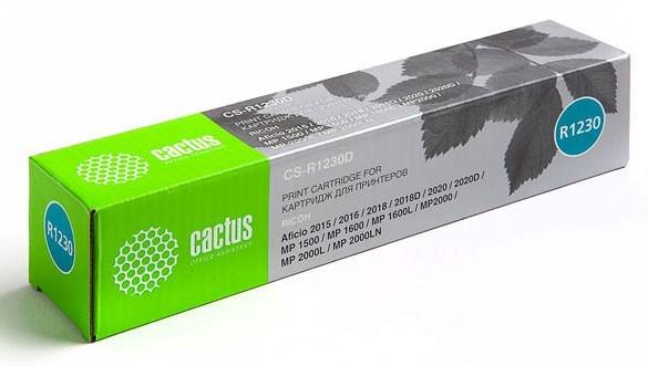 Лазерный картридж Cactus CS-R1230D (Type 1230D) черный для принтеров Ricoh Aficio 2015, 2016, 2018, 2018D, 2020, 2020D, MP 1500, 1600, 1600L, 2000, 2000L, 2000LN, Gestetner Docustation DSM 615, 616, 618, 618D, 620, 620D,