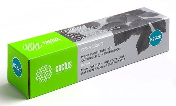 Лазерный картридж Cactus CS-R2320D (Type 2220D (2320D)) черный для принтеров Ricoh Aficio 1022, 1027, 1032, 2022, 2022SP, 2027, 2027SP, 2032, 3025, 3025AD, 3025P, 3025PS, 3025SP, 3025SPF, 3025SPi, 3030, 3030AD, 3030SP, 3030SPF, 3030SPFi, 3030SPi, 3030P, 3