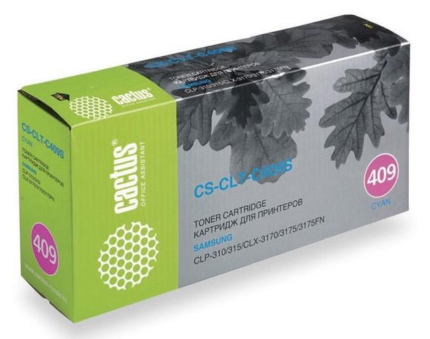 Лазерный картридж Cactus CS-CLT-C409S (CLT-C409S) голубой для принтеров Samsung CLP 310, 310N, 315, 315N, 315W, CLX 3170, 3170N, 3170FN, 3175, 3175FN (1000 стр.)Картриджи для Samsung<br>Лазерный тонер картридж Cactus CS-CLT-C409S (CLT-C409S) создан для использования в принтерах Samsung CLP 310, 310N, 315, 315N, 315W, CLX 3170, 3170N, 3170FN, 3175, 3175FN<br>&amp;nbsp;<br><br>Ресурс картриджа 1000 страниц<br>&amp;nbsp;<br><br>Гарантия 12 месяцев<br>