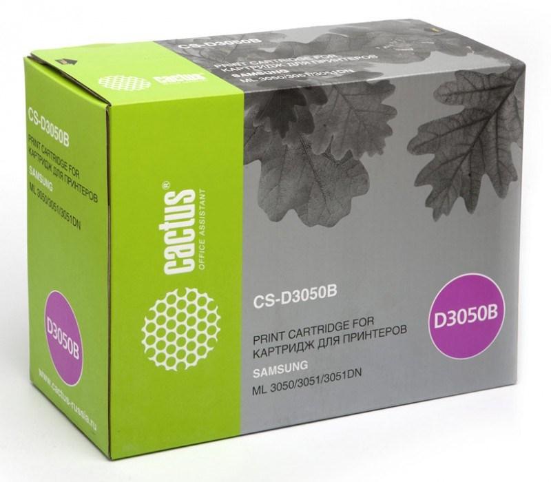 Лазерный картридж Cactus CS-D3050B (ML-D3050B) черный для принтеров Samsung ML 3050, 3051, 3051N, 3051ND (8000 стр.)Картриджи для Samsung<br>Лазерный тонер картридж Cactus CS-D3050B (ML-D3050B) создан для использования в принтерах Samsung ML 3050, 3051, 3051N, 3051ND<br>&amp;nbsp;<br><br>Ресурс картриджа 8000 страниц<br>&amp;nbsp;<br><br>Гарантия 12 месяцев<br>