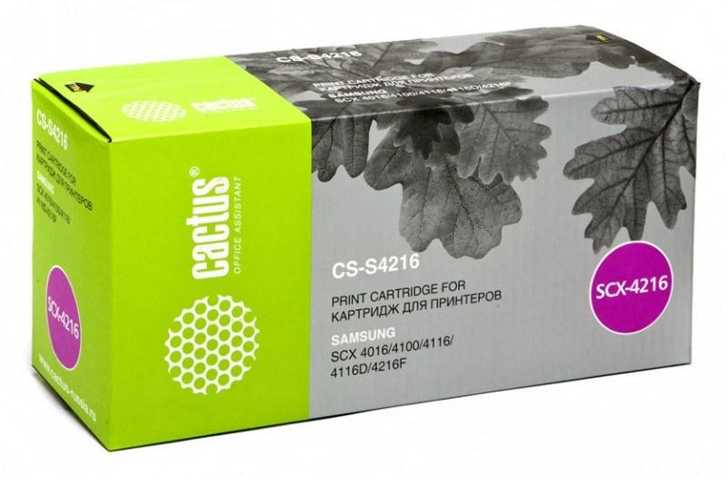 Лазерный картридж Cactus CS-S4216 (SCX-4216D3) черный для Samsung SCX 4016, 4116, 4216, 4216F; SF 560, 565, 565P, 750, 755, 755P (3'000 стр.)