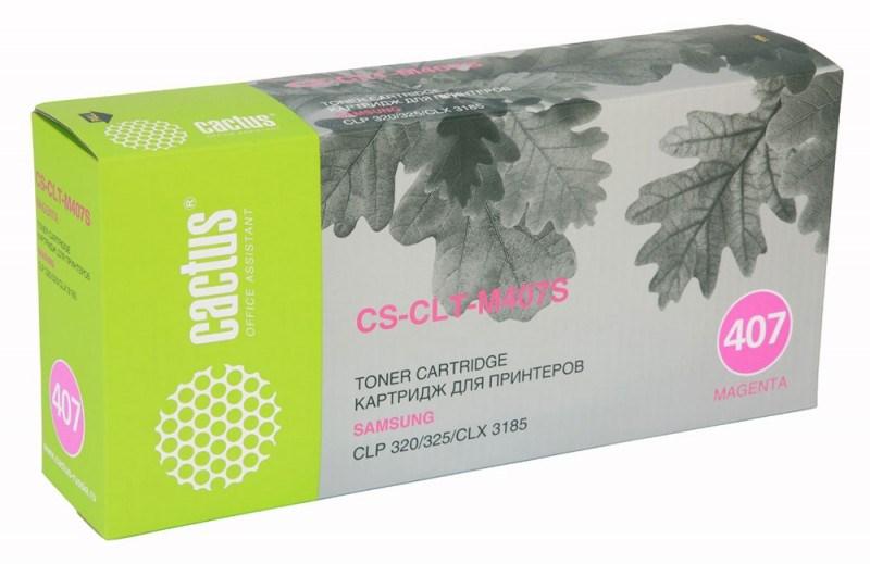Лазерный картридж cactus cs-clt-m407s (clt-m407s) пурпурный