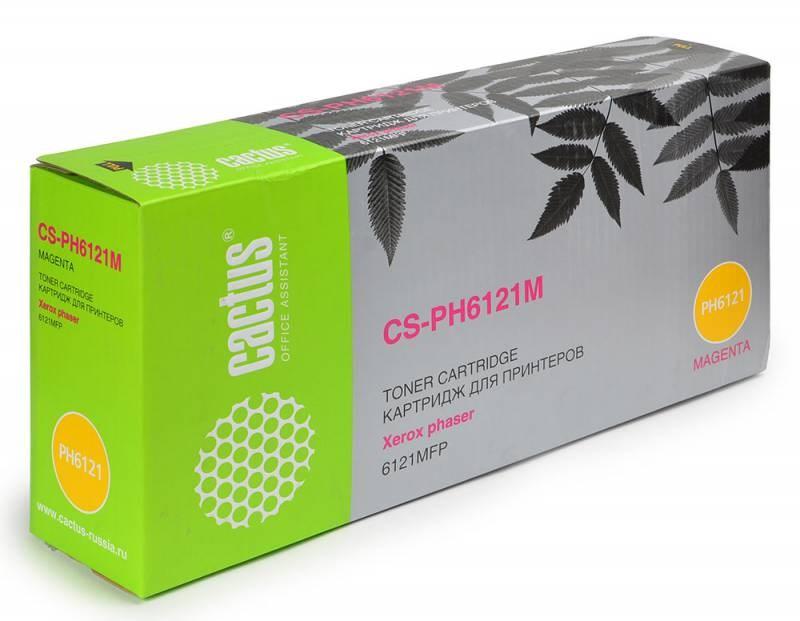 Лазерный картридж Cactus CS-PH6121M (106R01474) пурпурный увеличенной емкости для Xerox Phaser 6121, 6121 MFP, 6121 MFP d, 6121MFP n (2'600 стр.)