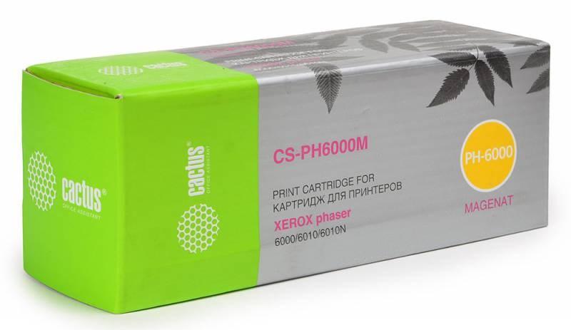 Лазерный картридж Cactus CS-PH6000M (106R01632) пурпурный для Xerox Phaser 6000, 6000b, 6010, 6010n; WorkCentre 6015, 6015b, 6015n, 6015ni (1'000 стр.) фото