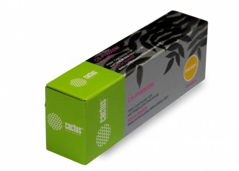 Лазерный картридж Cactus CS-PH6500M (106R01602) пурпурный для Xerox Phaser 6500, 6500dn, 6500n, 6500v; WorkCentre 6505, 6505n, 6505v (2'500 стр.) фото