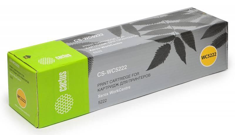 Лазерный картридж Cactus CS-WC5222 (106R01413) черный для Xerox WorkCentre 5222, 5222c, 5222cd, 5222p, 5222pd, 5222sd, 5222k, 5222ku, 5222xd (20'000 стр.)