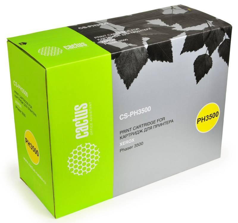 Лазерный картридж Cactus CS-PH3500 (106R01149) черный для принтеров Xerox Phaser 3500, 3500b, 3500dn, 3500n, 3500vn (12000 стр.)Лазерные картриджи для Xerox<br>Лазерный тонер картридж Cactus CS-PH3500 (106R01149) создан для использования в принтерах Xerox Phaser 3500, 3500b, 3500dn, 3500n, 3500vnРесурс картриджа 12000 страницГарантия 12 месяцев<br>