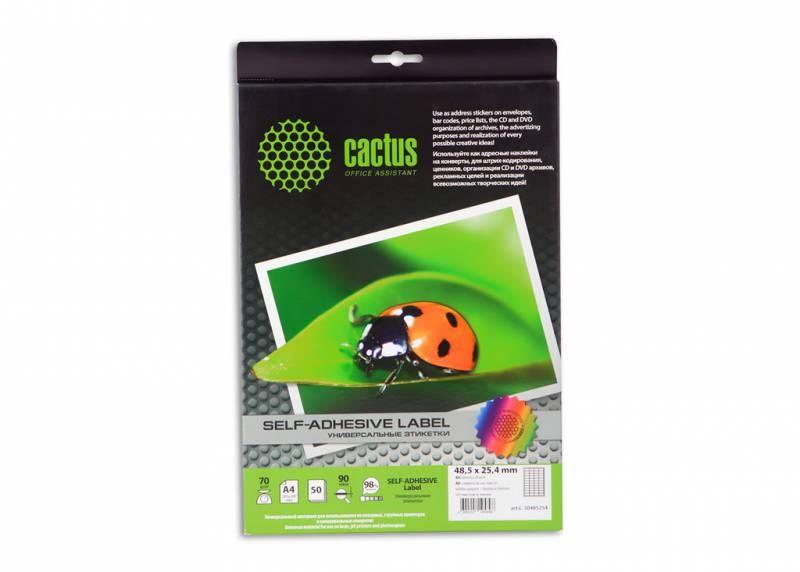 Этикетки Cactus С-30485254 A4 25.4x48.5мм 40шт на листе, 50л.Универсальные этикетки А4<br><br>
