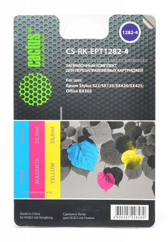 Заправка для ПЗК Cactus CS-RK-EPT1282-4 цветной Epson Stylus S22 (3*30ml) 845702