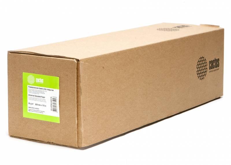 Бумага инженерная Cactus CS-LFP80-620175 (A1+) 620мм-175м, 80г/м2, белая, втулка: 76.2мм (3