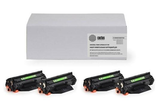 Комплект картриджей CACTUS CS-CB540, CF320, CF210 для принтеров HP  Color LaserJet CM1312, CM1312nfi, CP1215, CP1217, CP1515, CP1515n, CP1518, CP1518ni, M251, M251n, M251nw, M276, M276n, M276nw (2200 стр.)Лазерные картриджи для HP<br><br>
