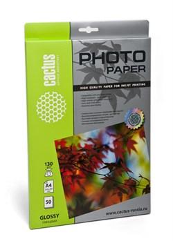 Фотобумага Cactus CS-GA413050 A4, 130г/м2, 50л., белый глянцевое для струйной печати - фото 10195