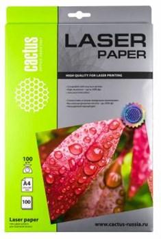 Фотобумага Cactus CS-LPA4100100 A4, 100г/м2, 100л, белая глянцевая для лазерной печати - фото 10197
