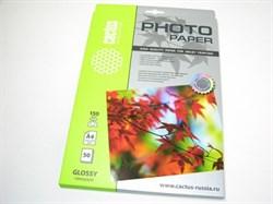 Фотобумага Cactus CS-GA415050E A4, 150г/м2, 50л., белый глянцевое для струйной печати - фото 10237
