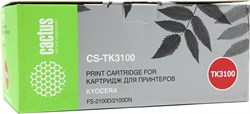 Лазерный картридж Cactus CS-TK3100 (Mita TK-3100) черный для принтеров Kyocera Mita M3040dn Ecosys, M3540dn Ecosys, Mita FS 2100, 2100D, 2100DN, 4100, 4100DN, 4200, 4200DN, 4300, 4300DN (12500 стр.) - фото 10278