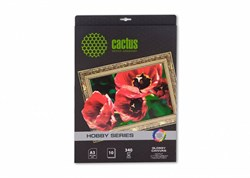 Холст Cactus CS-СGA32601 A3, 340г/м2, 10л. глянцевое хлопок для струйной печати - фото 10346