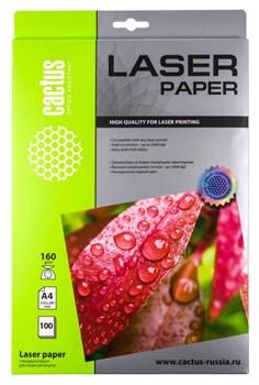Фотобумага Cactus CS-LPA4160100 A4, 160г/м2, 100л., белый глянцевое для лазерной печати - фото 10354