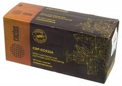 Лазерный картридж Cactus CSP-CC532A (HP 304A) желтый для принтеров HP  Color LaserJet CM2320 mfp, CM2320fxi (CC435A), CM2320n, CM2320nf (CC436A), CP2020 series, CP2025 (CB493A), CP2025dn (CB495A), CP2025n (CB494A), CP2025x (3500 стр.) - фото 10371