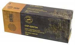 Лазерный картридж Cactus CSP-Q2672A (HP 309A) желтый для принтеров HP Color LaserJet 3500, 3500N, 3550, 3550N, 3700, 3700D, 3700DN, 3700DTN, 3700N (6000 стр.) - фото 10381