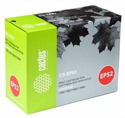 Лазерный картридж Cactus CS-EP52 (EP-52) черный для принтеров Canon LBP 1750, 1760, 1760E, 1760N (10000 стр.) - фото 10410