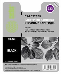 Струйный картридж Cactus CS-LC223BK (LC-223BK) черный для принтеров DCP-J4120DW, MFC-J4420DW, J4620DW (550 стр.) - фото 10422