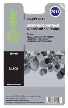Струйный картридж Cactus CS-EPT7011 (C13T70114010) черный для принтеров Epson WorkForce Pro WF-4015, WF-4020, WF-4025, WF-4095, WF-4515, WF-4525, WF-4535, WF-4545, WF-4595 (3400 стр.) - фото 10589