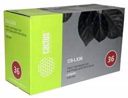Лазерный картридж Cactus CS-LX36 (E360H11E Bk) черный для Lexmark Optra E360, E360d, E360dn, E460, E460dn, E460dw, E462dtn (9'000 стр.) - фото 10746