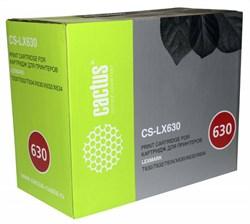Лазерный картридж Cactus CS-LX630 (12A7462 Bk) черный для Lexmark Optra T630DN, T630N, T630VE, T632DTN, T632TN, T634DN, T634DTN, T634TN, T632DTNF, T634DTNF, X630MFP, X632E MFP, X632MFP, X632S MFP, X634E MFP, X634DTE (21'000 стр.) - фото 10748