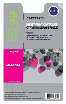 Струйный картридж Cactus CS-EPT7013 (C13T70134010) пурпурный для принтеров Epson WorkForce Pro WF-4015, WF-4020, WF-4025, WF-4095, WF-4515, WF-4525, WF-4535, WF-4545, WF-4595 (3400 стр.) - фото 11007