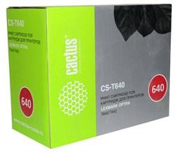 Тонер Картридж Cactus CS-T640 64016HE черный для Lexmark Optra T640, T642 (21000стр.) - фото 11058