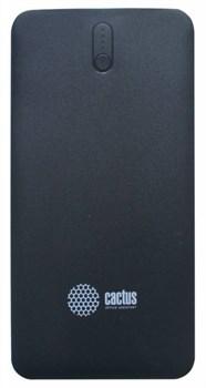 Мобильный аккумулятор Cactus CS-PBAS283 Li-Pol 10000mAh 2A+2.4A черный/темно-серый 2xUSB - фото 11230