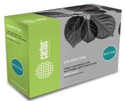 Лазерный картридж Cactus CS-SP277HE (SP 277HE) черный для Ricoh Aficio SP 277NwX, SP 277SFNwX, SP 277SNwX (2'600 стр.) - фото 11364