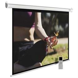 """Экран Cactus MotoExpert CS-PSME-200x200-WT 110"""" 1:1 настенно-потолочный рулонный белый (моторизованный привод). - фото 11895"""