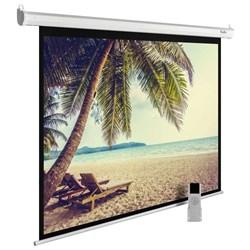 """Экран Cactus MotoExpert CS-PSME-360x360-WT 200"""" 1:1 настенно-потолочный рулонный белый (моторизованный привод). - фото 11901"""