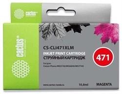 Струйный картридж Cactus CS-CLI471XLM (CLI-471XLM) пурпурный для Canon Pixma MG5740, MG6840, MG7740, TS5040, TS6040, TS8040, TS9040 (10,8 мл) - фото 11920