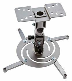 Кронштейн для проектора Cactus CS-VM-PR04-AL серебристый (до 10 кг.) настенный и потолочный, поворот и наклон - фото 12371