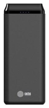 Мобильный аккумулятор Cactus CS-PBFSST-20000 Li-Pol 20000mAh 2A+2.4A графит 2xUSB - фото 12485