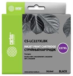Струйный картридж Cactus CS-LC227XLBK (LC227XL BK) черный для Brother DCP-J4120dw, MFC-J4420dw, J4620dw (30 мл) - фото 13121