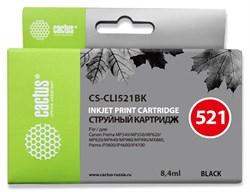Струйный картридж Cactus CS-CLI521BK (CLI-521Bk) фото черный для Canon Pixma iP3600, iP4600, iP4600x, iP4700, MP540, MP540x, MP550, MP560, MP620, MP620b, MP630, MP640, MP660, MP980, MP990, MX860, MX870 (8,4 мл) - фото 13232