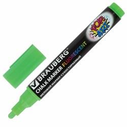 """Меловой маркер Brauberg """"POP-ART"""" зеленый, сухостираемый, для гладких поверхностей, 5 мм - фото 13785"""