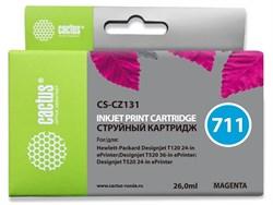 Струйный картридж Cactus CS-CZ131 (HP 711) пурпурный увеличенной емкости для HP DesignJet T120, T520 A0, T520 A1 (26 мл) - фото 14657