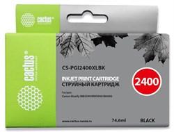 Струйный картридж Cactus CS-PGI2400XLBK (PGI-2400XL BK) черный для Canon MAXIFY iB4040, iB4140, MB5040, MB5140, MB5340, MB5440 (74,6 мл) - фото 14742