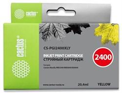 Струйный картридж Cactus CS-PGI2400XLY (PGI-2400XL Y) желтый для Canon MAXIFY iB4040, iB4140, MB5040, MB5140, MB5340, MB5440 (20,4 мл) - фото 14744