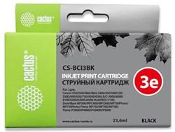 Струйный картридж Cactus CS-BCI3BK (BCI-3Bk) черный для Canon BJ i550, i560, i6500, i850, S400, S450, S500, S520,S530, S600, S630, S750, BJC 3000, 6000, 6100, 6200, Pixma iP3000, iP4000, iP5000, MP760, SmartBase MP700, MPC400 (23,6 мл) - фото 14797