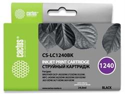 Струйный картридж Cactus CS-LC1240BK (LC1240BK) черный для принтеров Brother DCP-J525w, J725dw, J925dw, MFC-J430w, J625dw, J825dw, J5910dw, J6510dw, J6710dw, J6910dw (24 мл) - фото 14842