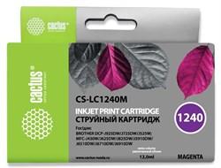 Струйный картридж Cactus CS-LC1240M (LC1240M) пурпурный для принтеров Brother DCP-J525w, J725dw, J925dw, MFC-J430w, J625dw, J825dw, J5910dw, J6510dw, J6710dw, J6910dw (12 мл) - фото 14844