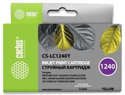 Струйный картридж Cactus CS-LC1240Y (LC1240Y) желтый для принтеров Brother DCP-J525W, J725DW, J925DW, MFC-J430W, J625DW, J825DW, J5910DW, J6510DW, J6710DW, J6910DW (12 мл) - фото 14845