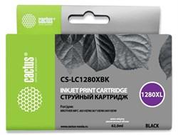 Струйный картридж Cactus CS-LC1280XBK (LC1280XL-BK) черный увеличенной емкости для принтеров Brother MFC J5910dw, MFC J6510, MFC J6510dw, MFC J6710, MFC J6710d, MFC J6710dw, MFC J6910, MFC J6910dw (62 мл) - фото 14846