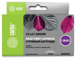Струйный картридж Cactus CS-LC1280XM (LC1280XL-M) пурпурный увеличенной емкости для принтеров Brother MFC J5910dw, MFC J6510, MFC J6510dw, MFC J6710, MFC J6710d, MFC J6710dw, MFC J6910, MFC J6910dw (16,6 мл) - фото 14848