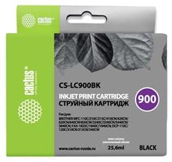 Струйный картридж Cactus CS-LC900BK (LC900Bk) черный для принтеров Brother DCP-110C, 115C, 117C, 120C, 310CN, 315CN, 340CW, MFC-210C, 215C, 3240C, 3340CN, 410CN, 425CN, 5440CN, 5840CN, 620CN, 640CW (25,6 мл) - фото 14850
